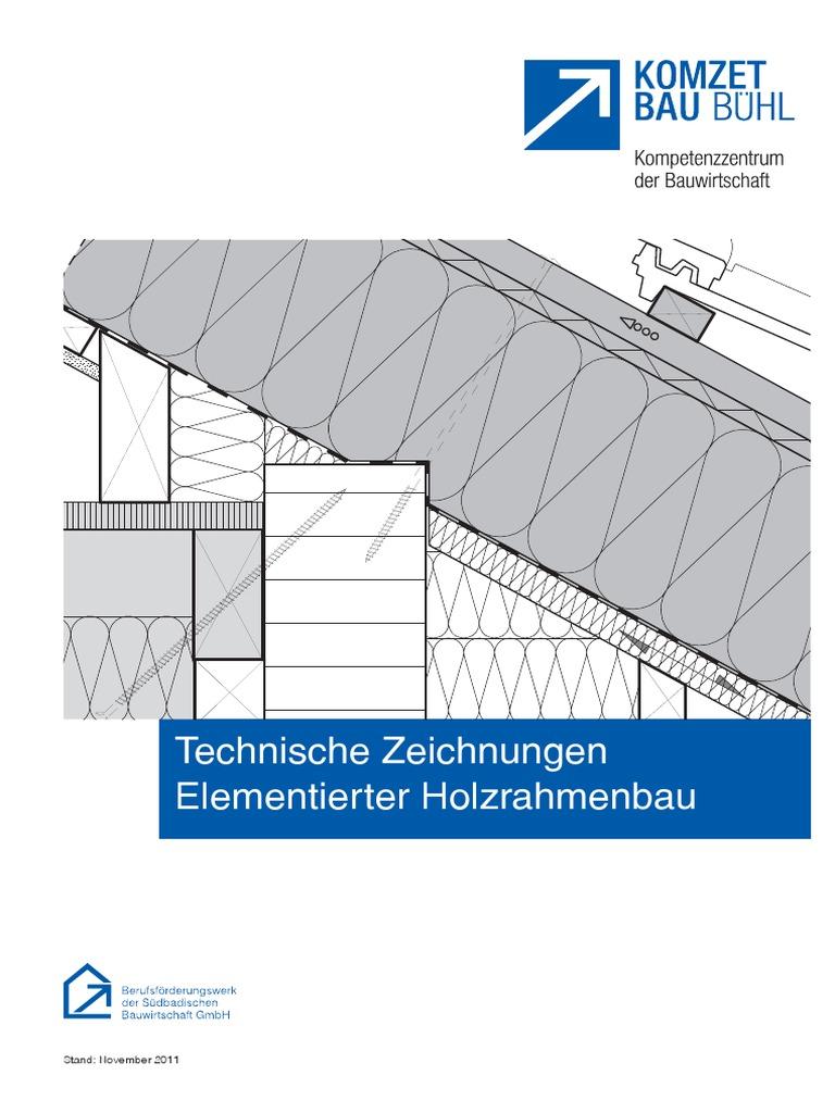 Holzrahmenbau deckenanschluss  2.1.1 TechnischeZeichnungen Holzrahmenbau
