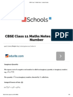 CBSE Class 11 Maths Notes _ Complex Number