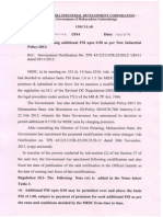 Circular Regarding Additional FSI Upto 0.50 as Per New Industrial Policy-2013
