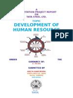 Development of Human Resource at Tata Steel