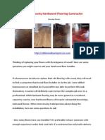 Orange County Hardwood Flooring Contractor