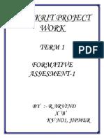 Sanskrit Project Work