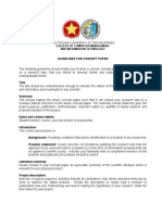Guidelines for Concept Paper (Sir Mike Version)