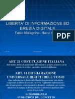 Libertà di informazione - Nuovi media. 02/12/09