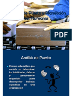 Análisis de Puesto y Planeación de Recursos Humanos