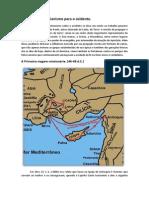 Expansão Do Cristianismo Para o Ocidente - Geografia Bíblica.