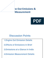 Engine Out Emissions & Measurement