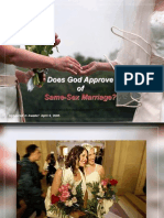 Does God Approve of Same Sex Marriage?