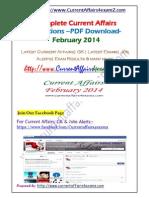 Feb 2014- Monthly PDF Www.currentaffairs4examz