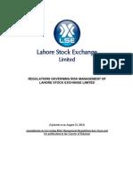 Regulations Governing Risk Management LSE
