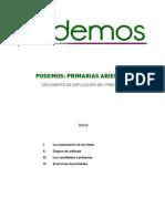 Normativa Primarias Podemos