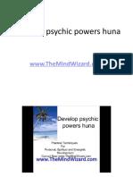 Develop psychic powers huna