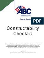 Constructability Checklist