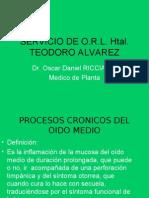PROCESOS CRONICOS DEL OIDO MEDIO