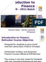 Intro to Finance_June 2009_Session 1