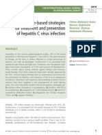 Immune-based strategies  for treatment and prevention  of hepatitis C virus infection