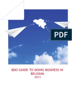 BDO Guide to Doing Business in Belgium 2013
