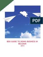 BDO Guide to Doing Business in Belgium 2013
