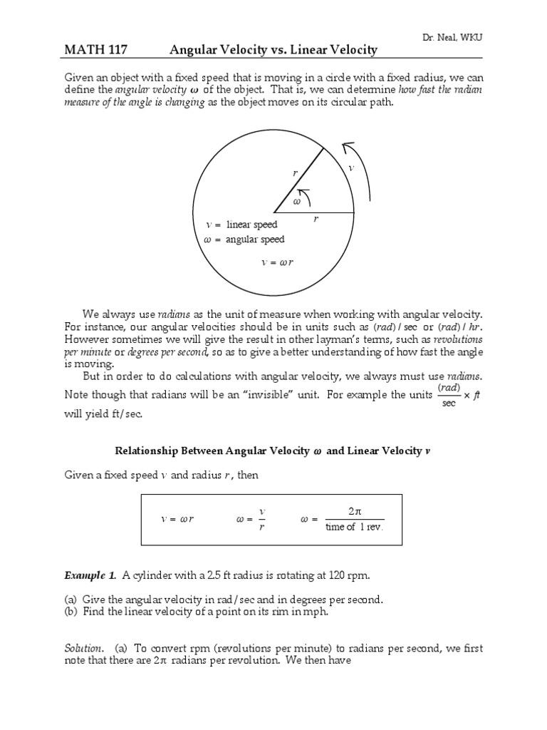 Angular Velocity Calcpdf Planets Speed