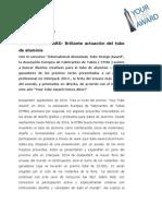 YOUR TUBE AWARD 2013 2014 Comunicado de Prensa ESP