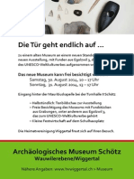Einladungskarte Archäologisches Museum, Schötz