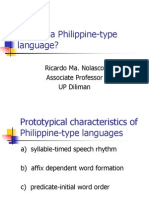What is a Philippine-type Language