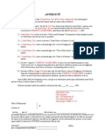 Employer levy affidavit