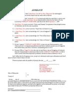 Employer levy affidavit