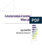 Labov - Structural Analysis of Narrative
