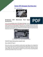 Perbedaan Mesin EFI Dengan Karburator
