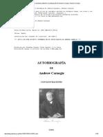 El Proyecto Gutenberg eBook de La Autobiografía de Andrew Carnegie, Andrew Carnegie