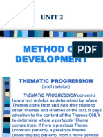 Thematic Progression (Theme/Rheme)