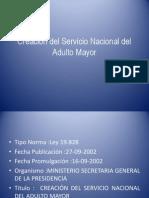 Creación Del Servicio Nacional Del Adulto Mayor