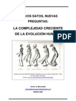 LA COMPLEJIDAD CRECIENTE DE LA EVOLUCIÓN HUMANA