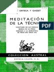 Meditación de La Técnica- JOsé Ortega y Gasset