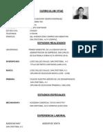 Curriculum Vitae Denys Osorio Rodriguez