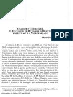 CASSIRER - HEIDEGGER. Debate Davos, Kant e a Modernidade (Artigo 23p).pdf