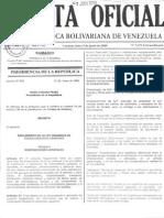 Reglamento Ley Organica de Hidrocarburos Gaseosos