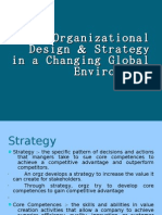 Organizational Design & Strategy in a Changing Global Environment