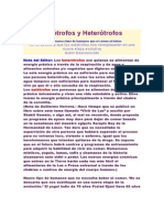 Autótrofos y Heterótrofos