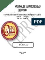 CEPRU LOGICA. Presentar Corregido 2014 I