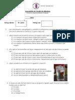 EVALUACIÓN TALLER DE CIENCIAS 4° ESTADOS DE LA MATERIA