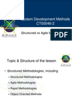 Intro - Structured vs Agile Methodologies