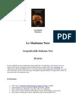 Geografia Delle Madonne Nere in Italia