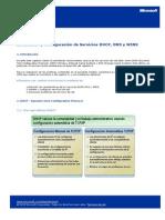 Instalacion y Config de Servicios DHCP DNS WINS