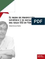 El Modo de Produccion Sovietico y El Socialismo Del Siglo XXI en Venezuela