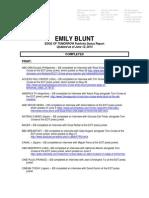 emily blunt eot status report