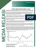 June 2014 Building Approvals - National Media Release