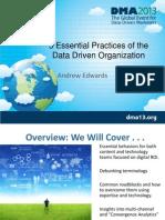 DMA 2013 Data Driven Organizations
