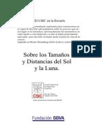 Cálculos Sol y Luna Diametros y Distancia